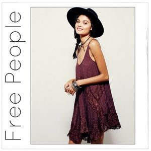Free People She Swings Slip Baby Doll Dress